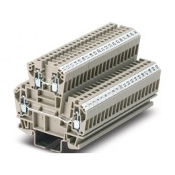 Screw double level terminal blocks