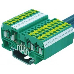 Spring clamp ground terminal blocks