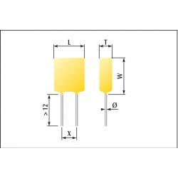 Condensateur céramique fluidisés classe 1