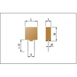 Condensateur céramique moulés classe1
