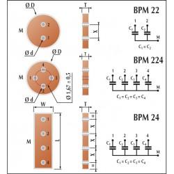 Condensateur céramique multi traversée classe 2