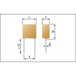 Condensateur céramique enrobés classe 1