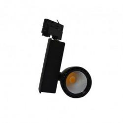 Spot LED sur Rail avec Adaptateur 3 allumages Noir 40W 3000°K
