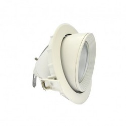 Spot LED Escargot Rond Inclinable et Orientable avec Alimentation Electronique 10W 3000°K