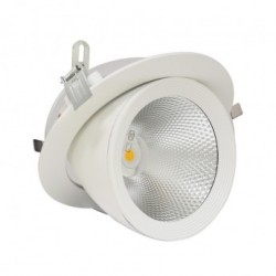 Spot LED Escargot Rond Inclinable et Orientable avec Alimentation Electronique 30W 4000°K