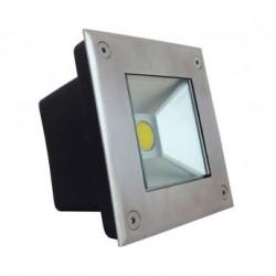 Spot LED Encastre Sol Carré Inox 5W