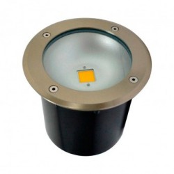 Spot LED Encastre Sol Rond Inox 3W