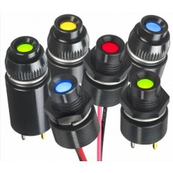 Voyant à LED Ø 8mm à montage arrière - QRM8