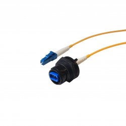 Connecteur fibre à montage par l'arrière du panneau vers connecteur type LC