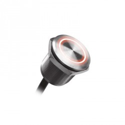 Interrupteurs - Boutons a tête plate en acier inoxydable