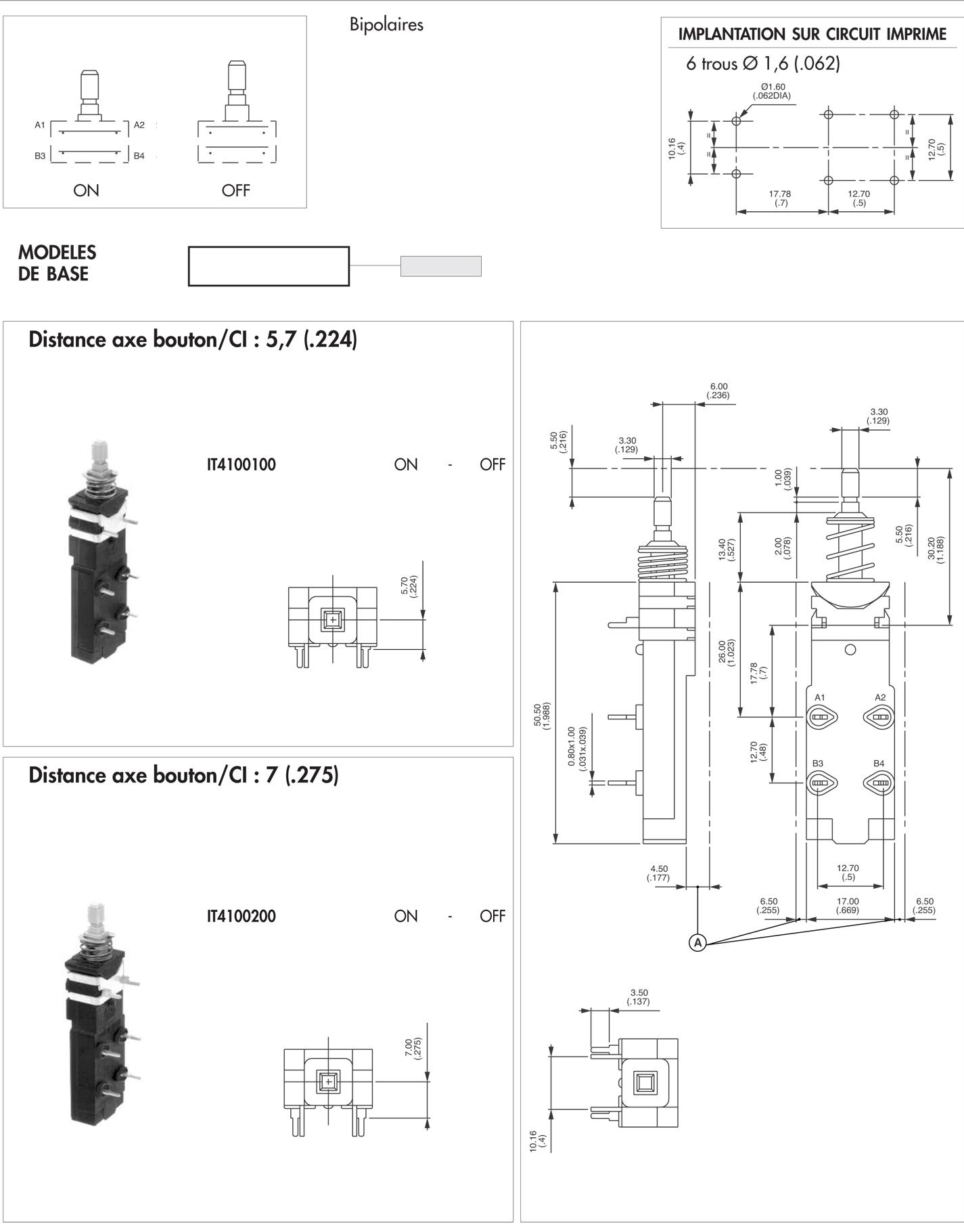 interrupteurs secteur - rigidit u00e9 di u00e9lectrique 6000v
