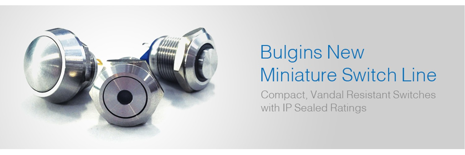 Bulgin announces new 12mm Switch Series